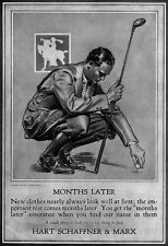 Hart Schaffner & Marx Golf Clothing GOLFING Golf Club 1924 Print Ad