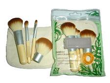 Bamboo Handle Makeup Brush 4pcs Set Tools Make up Eco Beauty Brushes