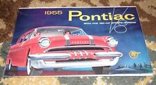 VINTAGE ORIGINAL 1955 PONTIAC DEALER BROCHURE CHIEFTAN 870, STAR CHIEF SERIES