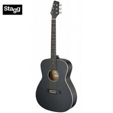 NEW Stagg SA35-A Auditorium Full Size Acoustic Guitar - Satin Black LEFT HAND