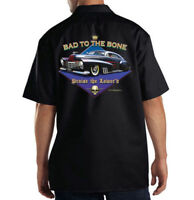 Dickies Mechanic Work Shirt Bad To The Bone Praise The Lowered Hot Rod Car Auto