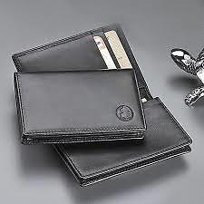 El Casco Double Billford Wallet in Black Leather
