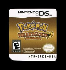 Pokemon Heart Gold Replacement Label Sticker glossy precut Nintendo DS USA decal