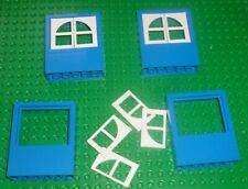 LEGO - WINDOW 2 x 6 x 6 Freestyle w/ WHITE Window Pane, BLUE x 4 6236c01 ZY103