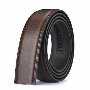 Luxury Men's Automatic Buckle Belt Ratchet Strap Black Brown Leather Strap Dress