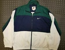 Vintage Nike White Tag Men's Full Zip Colorblock Windbreaker Jacket Size xl