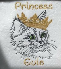 Personalised  Cat  or Dog Blanket FLEECE Embroidered Name Crate Bed Gift