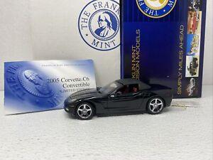 1/24 Franklin Mint 2005 Chevrolet Corvette C6 Black Limited  # B11E044 Read me