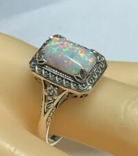 Ring Opal    925er Silber   ANTIK STYLE   # 62   Opal synth.