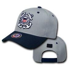 84215984da4e8 Gray Blue United States US Coast Guard USCG Military Baseball Cap Hat Caps  Hats