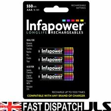 8 x INFAPOWER AAA Rechargeable Batteries 550 mAh phone 550mAh NiMh 2 x 4 pack