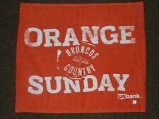"2010 NFL DENVER BRONCOS "" ORANGE SUNDAY "" SPORTS AUTHORITY FIELD RALLY TOWEL"