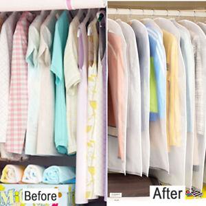 6X Breathable Zip Up Hanging Suit Dress Coat Garment Bag Clothes Cover Dustproof