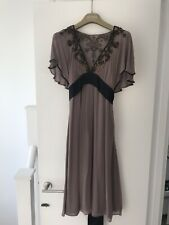 Temperley London Lilac Beaded Embellished  Evening Dress Size 8