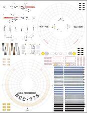 Ticonderoga NCC775 1/1000 Polar Lights Star Trek TOS enterprise model kit decals