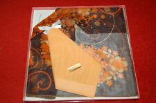 Mouchoir ancien Vintage 100% cotton - SUISSE - orange - marron