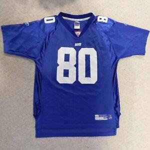 Reebok On Field Blue Jeremy Shockey #80 New York Giants Youth Boys XL 18-20