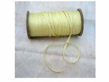 "10 Yards Vintage Tiny Rayon Yellow Square Ribbon Antique Doll 1/8"" Lampshade"