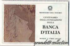 BANCA D'ITALIA TRITTICO LIRE 1993 REPUBBLICA ITALIA MONETA COMMEMORATIVA