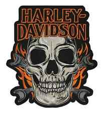 HARLEY DAVIDSON SKULL MOUTH FLAMES 11 INCH XXL HARLEY PATCH
