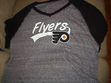 NHL WOMENS PHILADELPHIA FLYERS BLACK TEE SHIRT