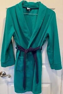 Unisex Kids Target Circo Green w/Navy Belt Fleece Bath Robe Size Large 12/14