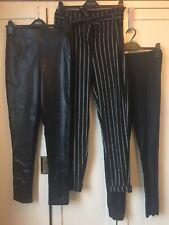 Size 10 Long Ladies Leggings High Waisted Trouser Bundle Leather Look Bundle