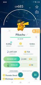 Pokemon Shiny Pikachu Black Hat- Trade Go- Read Describe
