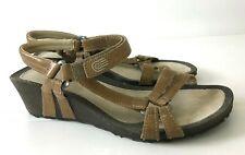 TEVA Women's size 8.5 EU 39.5 Ventura Cork Wedge Sandals Shoes 4253 Tan