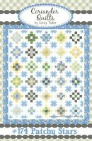 """SALE, Patchy Stars Quilt Pattern by Coriander Quilts/Corey Yoder of Moda 70""""x82"""""""