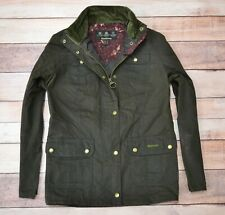 BARBOUR RETAIL EMMA WAX JACKET Womens Outdoor Waxed Coat Size 16 UK Large