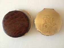 Vintage KIGU and Stratton Powder Compacts- Leather and Goldtone