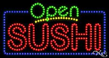 "NEW ""OPEN SUSHI"" 32x17 SOLID/ANIMATED LED SIGN W/CUSTOM OPTIONS 25437"