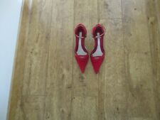 Size 5 Principles red suede&leather 3ins heeled pointed shoes worn once