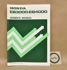 Vintage 1981 Honda EB3000 EB4000 Generator Maintenance Owners Manual