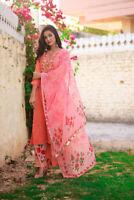 Indian kurta dress With dupatta Flare Top Tunic palazzo blouse Combo Ethnic-ft86