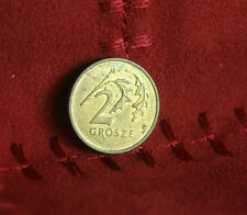 Poland 2 Grosze 2001 Brass World Coin Y277 Polska Eagle with Wings Polish Europe
