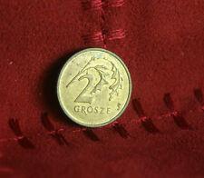 Poland 2 Grosze 2001 Brass World Coin Y277 Polska Eagle with Wings Polish Europe