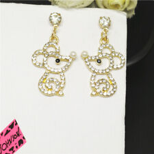 Crystal Betsey Johnson Women Stand Earrin New Cute Crystal Line Mouse Animal