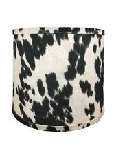 """Black Faux Cowhide Shade,Hardback, 16"""" Washer Fitter"""