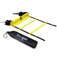 Yes4All Speed Agility Ladder Adjustable 12 Rungs Soccer Football with Carry Bag