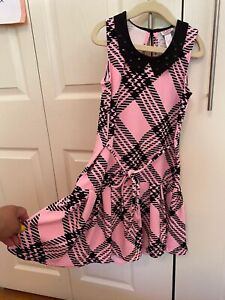 Justice Size 8 Girls Dress Pink And Black