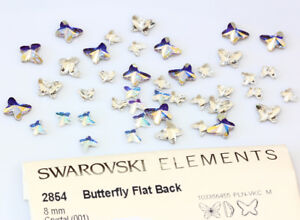 Genuine SWAROVSKI 2854 Butterfly Flat Back Crystals * Many Sizes & Colors