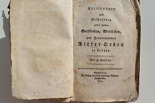 20052 Abbildungen und Beschreibungen aller hoher Ritter-Orden 48 Kupfer 1792