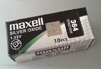 Pila MAXELL 364 - SR621SW - Made In Japan - Original - Caja De 10 Pilas