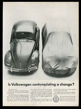1959 VW Volkswagen Beetle classic car photo Contemplating a Change print ad