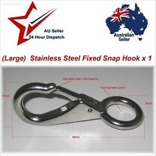 95mm 304 Stainless Steel Clip Hook Fixed Eye x1 camping rope cord joiner boating