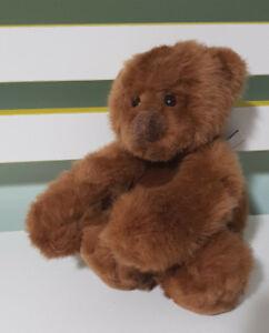 "Gund Teddy Bear Schatzi 15021 Plush Stuffed Animal 6"" 15CM TALL! DARK BROWN TOY!"