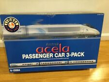 Lionel Car 6-15584 3 Acela Set Passenger Amtrak Add