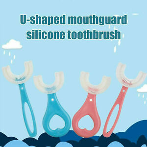 Children's U-shape Toothbrush Silicone Toothbrush For 360° Thorough Cleansing